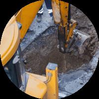 backhoe hole